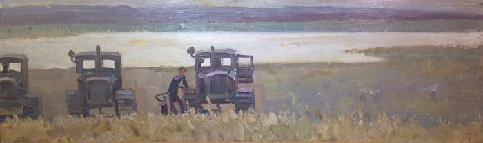 "Sakhanov A. I. ""Tractors in the field."""