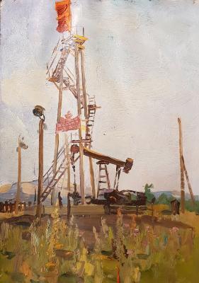 Саханов Александр Иванович. Нефтяная вышка