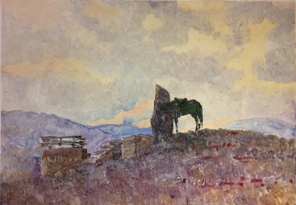 Саханов Александр Иванович. Закат в горах