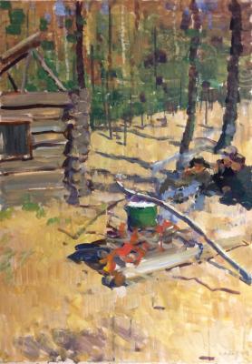 Саханов Александр Иванович. В ожидании ухи