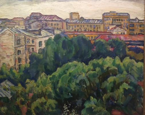 "Korzhevsky B. G. ""View from the window of the workshop on the 1st Tverskaya Yamskaya."""