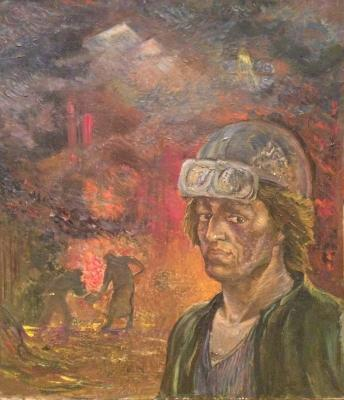 "Yezdakov V. D. ""Foreman of steelmakers Hans Birschenk. Plant named after E. Thalmann., Magdeburg."""