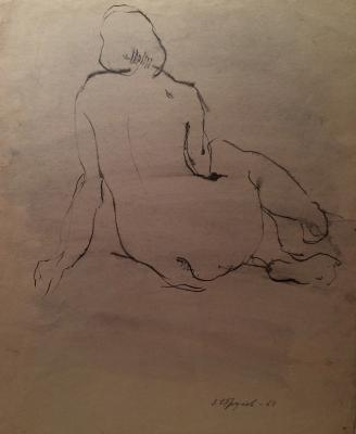 "Strulev Y. ""Nude from the back"""