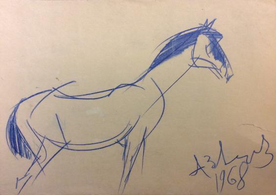Зверев Анатолий Тимофеевич. Синяя лошадь