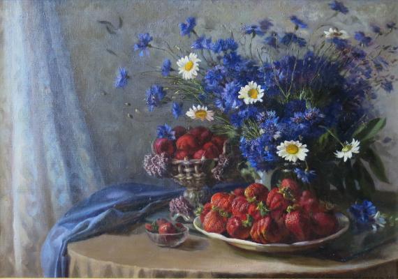 Лагранж (Судковская) Маргарита Ефимовна. Натюрморт с васильками.