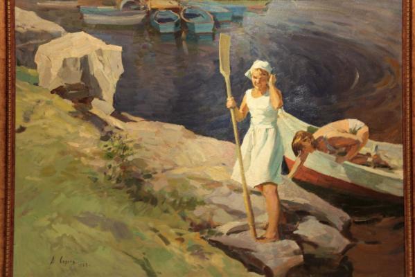 """Soroka A. V. """"Girl with a paddle."""""""