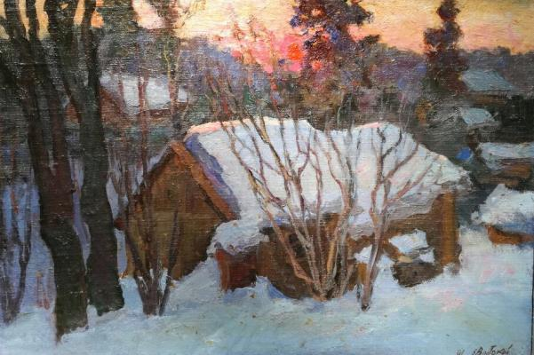 "Vostokov Y. I. ""Winter evening"""