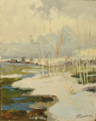 "Golikov V. V. ""The last snow."""