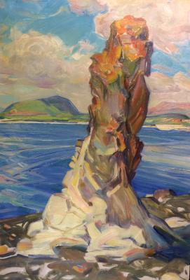Сафарян Сурен Саркисович. Одинокий камень на Севане.