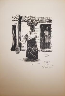 Судаков Павел Федорович. Уличная сценка. Рио-де-жанейро