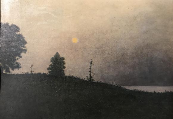 """Nikolay Yakovlevich Sitnikov (Kanitkin) """"Autumn morning on the Nemunas"""""""