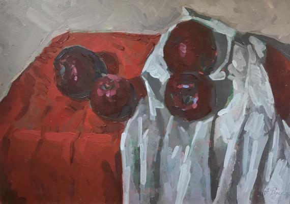 Русских Анатолий Тихонович. Натюрморт с яблоками