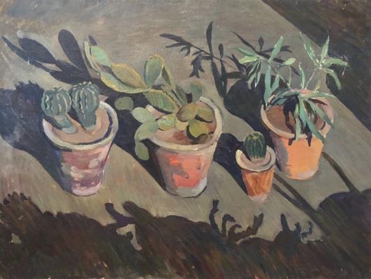 """Sukhanov A. G. """"Cacti at night"""""""