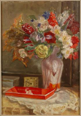 "Antonov F. V. ""Still-life with a bouquet of flowers."""