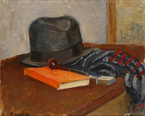 "Antonov F. V. ""Still Life with a hat."""