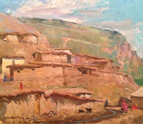 """Skubko S. M. """"Village in the mountains"""""""