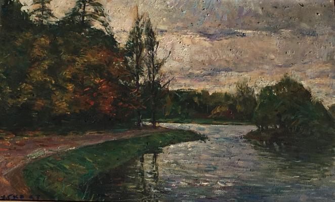 """Skubko S. M. """"Moscow. Pond in Tsaritsyno."""""""