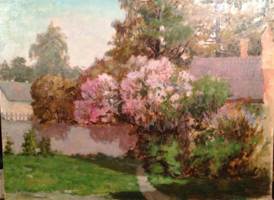 "Titov I. F. ""Patio with a lilac ."""