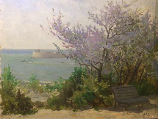 """Titov I. F. """"Crimean landscape."""""""