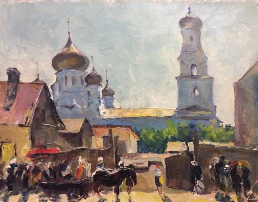 """Александр Петрович Перов """"Храм в городке"""""""