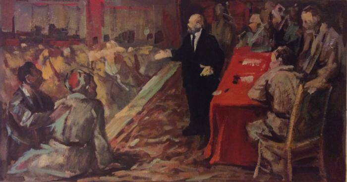 Перов Александр Петрович. Ленин выступает перед рабочими