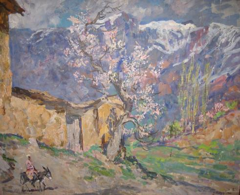 "Birshteyn M. A. ""Spring in the mountains."""
