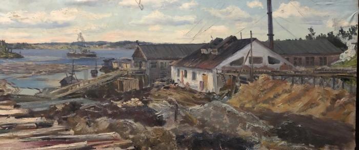 Кибардин Георгий Владимирович. Старинный лесопильный завод