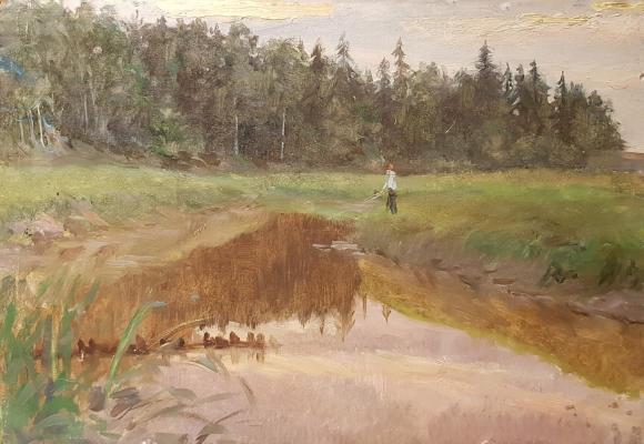 Кибардин Георгий Владимирович. На рыбалке.