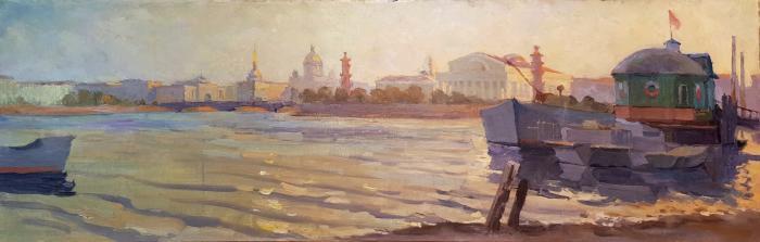 Деуль Виталий Фёдорович. Вид на стрелку Васильевского острова