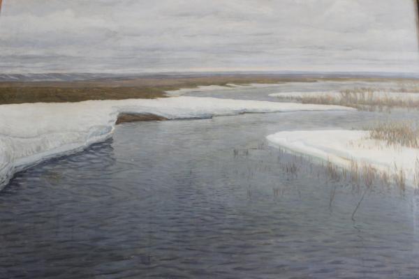 """Byalynitsky-Birulya V. K. """"Steppe river in winter."""""""