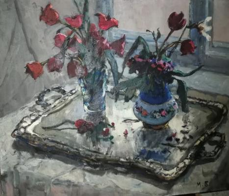 Булгакова Матильда Михайловна. Цветы на подносе