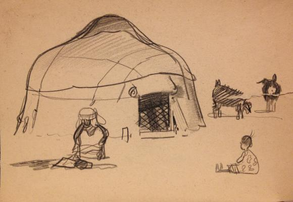 "Igoshev V. A. ""In the yurt."""