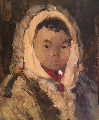 "Igoshev V. A. ""Portrait of Chukchi child"""