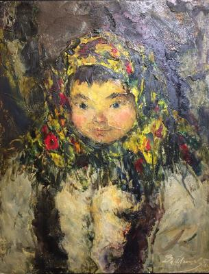 "Igoshev V. A. ""Girl in bandana."""