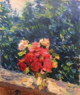 Волков Юрий Александрович. Розы на террасе