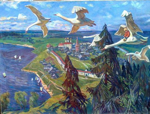 "Akimov Y. ""Geese and Swans ."""