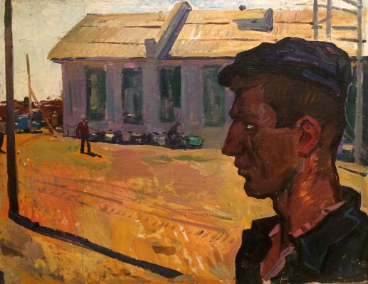 "Alekseyev A. Y. ""Morning the tractor."""