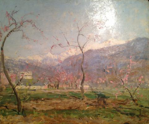 "Romadin N. M. ""Peach blossoms ."""
