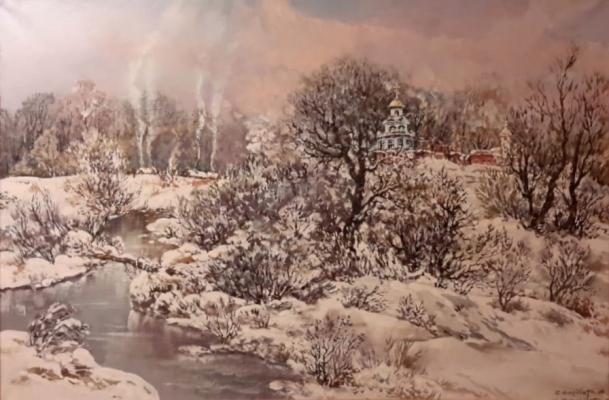 Салаватов Салават Магомедович. Зимний пейзаж