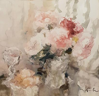 Григорьева Ирина Васильевна. Цветы в хрустальном кувшине