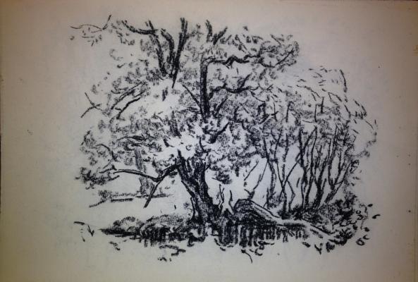 "Vaneyev ""Landscape with Tree"""