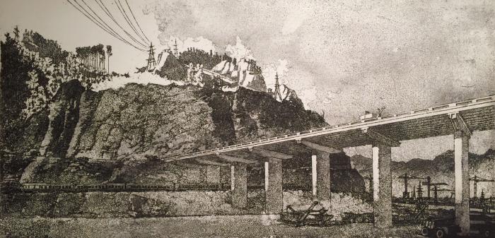 "Vaneyev P. I. ""Construction of the bridge."""