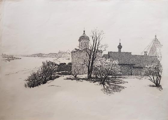Ванеев Петр Иванович. Церковь у реки