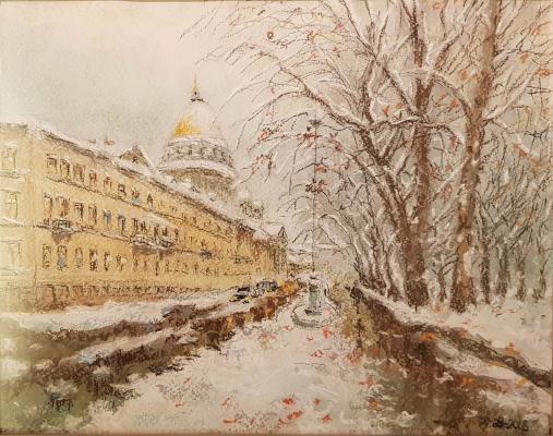 Кузнецов Виктор Иванович. Зимний день. Санкт-Петербург