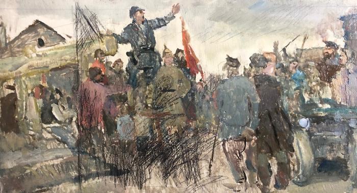 Герасимов Сергей Васильевич. Агитатор в деревне