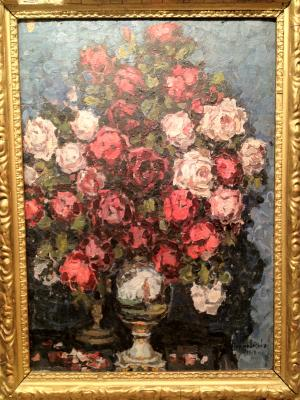 """Petrovichev P. I. """"Still life with roses."""""""