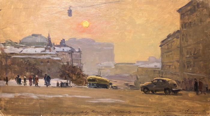 Соколов Михаил Николаевич. Москва. Площадь Дзержинского.
