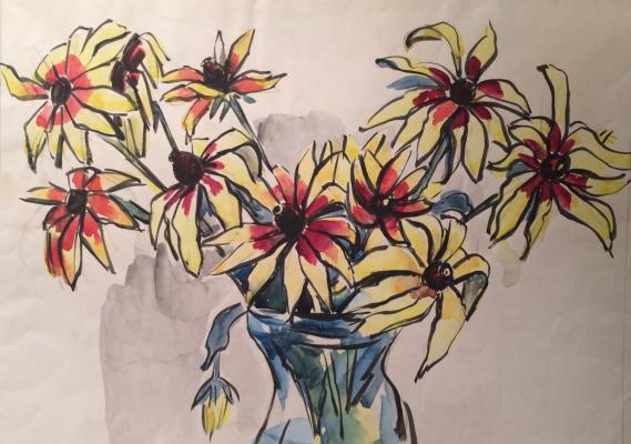 "Aslamazyan M. A. ""Heavy flowers."""