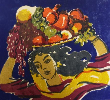 "Aslamazyan M. A. ""A bountiful harvest."""