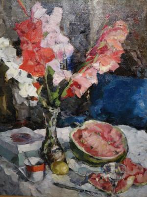 """Ivanova V. V. """"Still life with gladioli ."""""""